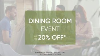 Scandinavian Designs Dining Room Event TV Spot, 'From Casual to Formal' - Thumbnail 3