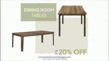 Scandinavian Designs Dining Room Event TV Spot, 'From Casual to Formal' - Thumbnail 4