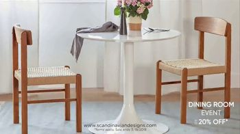 Scandinavian Designs Dining Room Event TV Spot, 'From Casual to Formal' - Thumbnail 5