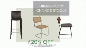 Scandinavian Designs Dining Room Event TV Spot, 'From Casual to Formal' - Thumbnail 6