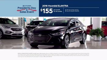 Hyundai Presidents Day Sales Event TV Spot, 'Best Deals of 2018' [T2] - Thumbnail 3