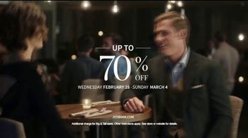 JoS. A. Bank Up to 70 Percent Off Sale TV Spot, 'Shirts, Suits & Clearance' - Thumbnail 10