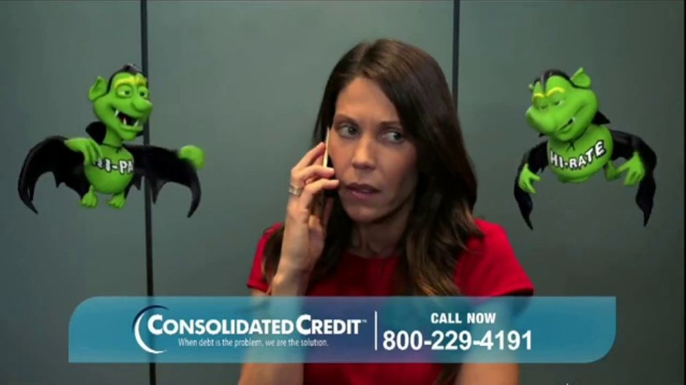 Consolidated Credit TV Commercial, 'Elevator Bats'