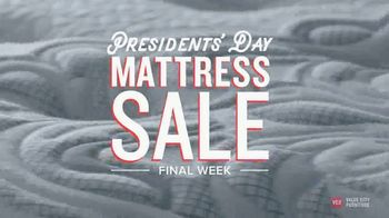 Value City Furniture Presidents' Day Mattress Sale TV Spot, 'Final Days' - Thumbnail 1