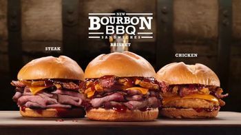 Arby's Bourbon BBQ Sandwiches TV Spot, 'Cheeseburger' - 3204 commercial airings