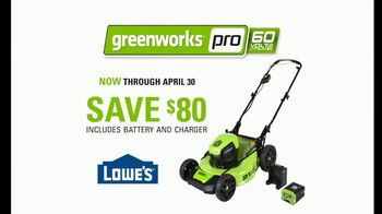 GreenWorks Pro 60-Volt Mower TV Spot, 'Lead the Charge' - Thumbnail 8