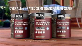 BEHR Paint TV Spot, 'Two Stains, Four Seasons' - Thumbnail 9