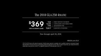 2018 Mercedes-Benz GLA TV Spot, 'Getaway' [T2] - Thumbnail 10