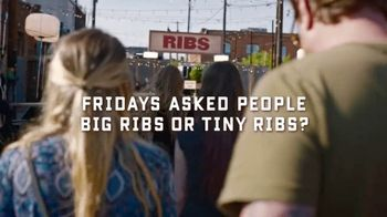 TGI Friday's Big Ribs TV Spot, 'Big Ribs or Tiny Ribs?' - Thumbnail 1