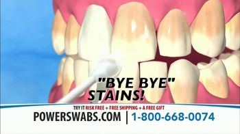 Power Swabs TV Spot, 'Yellow Stained Teeth' - Thumbnail 4