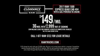 Ram Trucks Spring Clearance Event TV Spot, '2017 Ram 1500 for the Spring' [T2] - Thumbnail 3