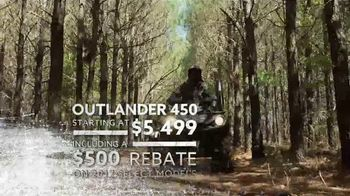 Can-Am Spring Fever Sales Event TV Spot, 'Outlander 450' - Thumbnail 6