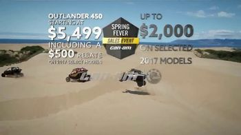 Can-Am Spring Fever Sales Event TV Spot, 'Outlander 450' - Thumbnail 7