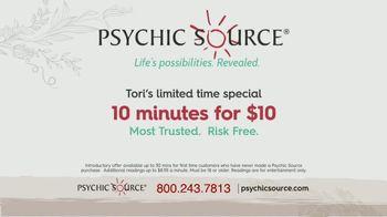 Psychic Source Tori's Special TV Spot, 'Clarity' Featuring Tori Spelling