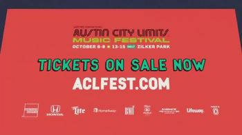 2017 Austin City Limits Music Festival TV Spot, 'ACL Music Festival Ticket' - Thumbnail 8
