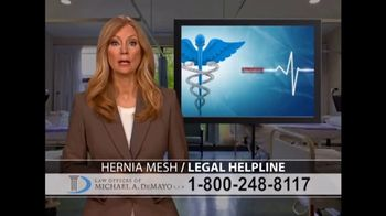 Law Offices of Michael A. DeMayo TV Spot, 'Hernia Mesh' - Thumbnail 1