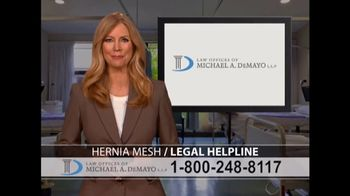 Law Offices of Michael A. DeMayo TV Spot, 'Hernia Mesh' - Thumbnail 9