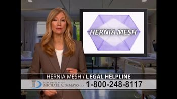 Law Offices of Michael A. DeMayo TV Spot, 'Hernia Mesh' - Thumbnail 2