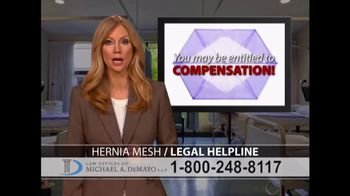 Law Offices of Michael A. DeMayo TV Spot, 'Hernia Mesh' - Thumbnail 3