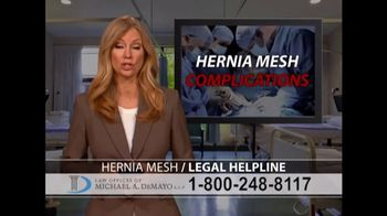Law Offices of Michael A. DeMayo TV Spot, 'Hernia Mesh' - Thumbnail 6