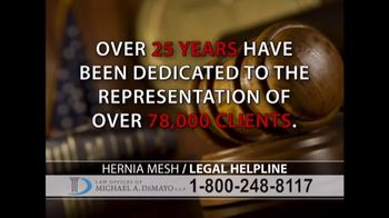 Law Offices of Michael A. DeMayo TV Spot, 'Hernia Mesh' - Thumbnail 7