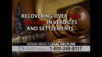 Law Offices of Michael A. DeMayo TV Spot, 'Hernia Mesh' - Thumbnail 8