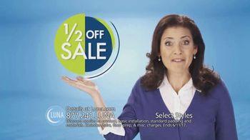Luna Half Off Sale TV Spot, 'Shop Select Styles of Carpet and Flooring'