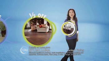 Luna Half Off Sale TV Spot, 'Shop Select Styles of Carpet and Flooring' - Thumbnail 5