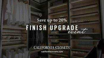 California Closets Finish Upgrade Event TV Spot, 'Wood-Grain Finish' - Thumbnail 4