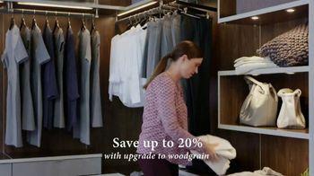 California Closets Finish Upgrade Event TV Spot, 'Wood-Grain Finish' - Thumbnail 2