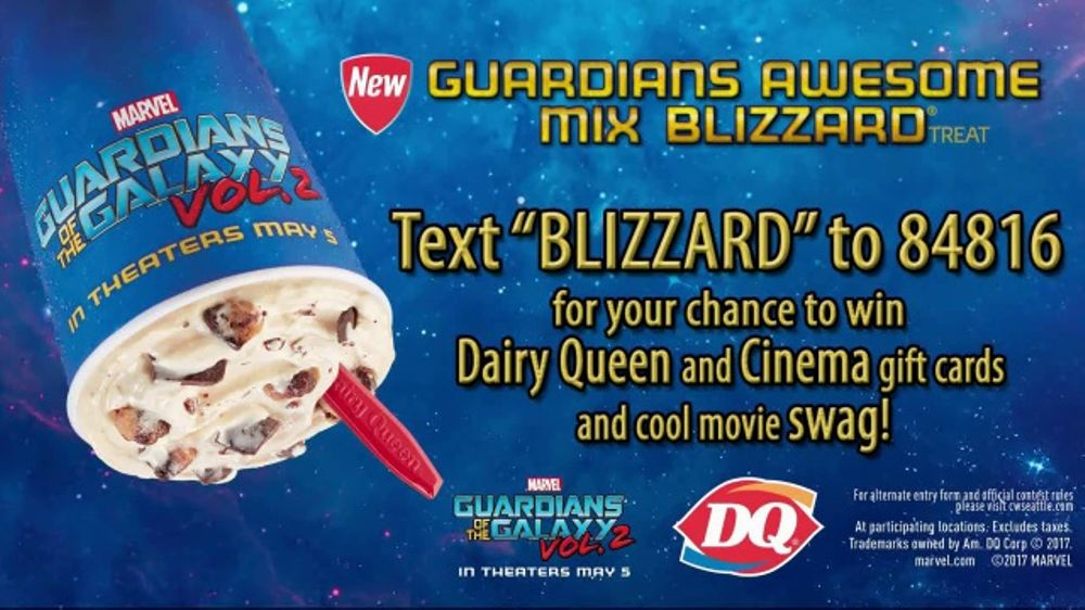 Dairy Queen Guardians Awesome Mix Blizzard TV Commercial, 'Treat and Movie'  - Video