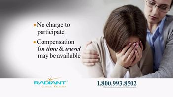 Radiant Clinical Research TV Spot, 'Treatment Resistant Depression Study' - Thumbnail 3