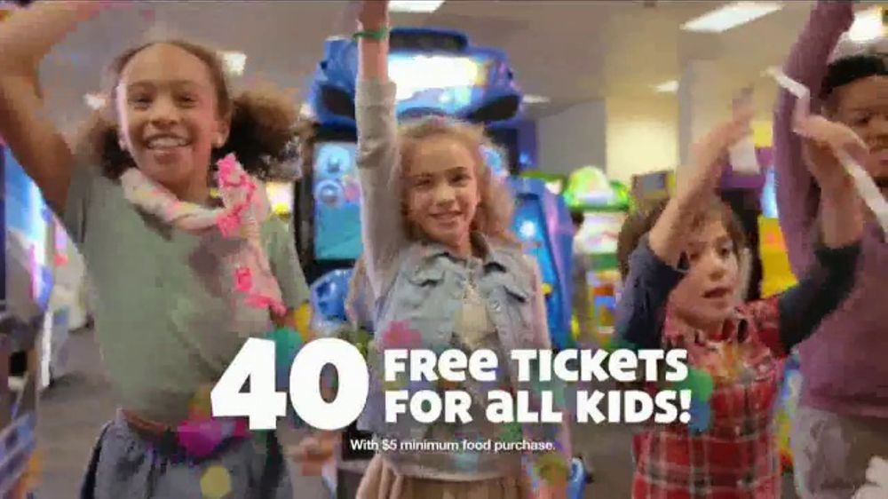 Chuck E. Cheese's TV Commercial, '40th Birthday Party: Guinness Attempt'