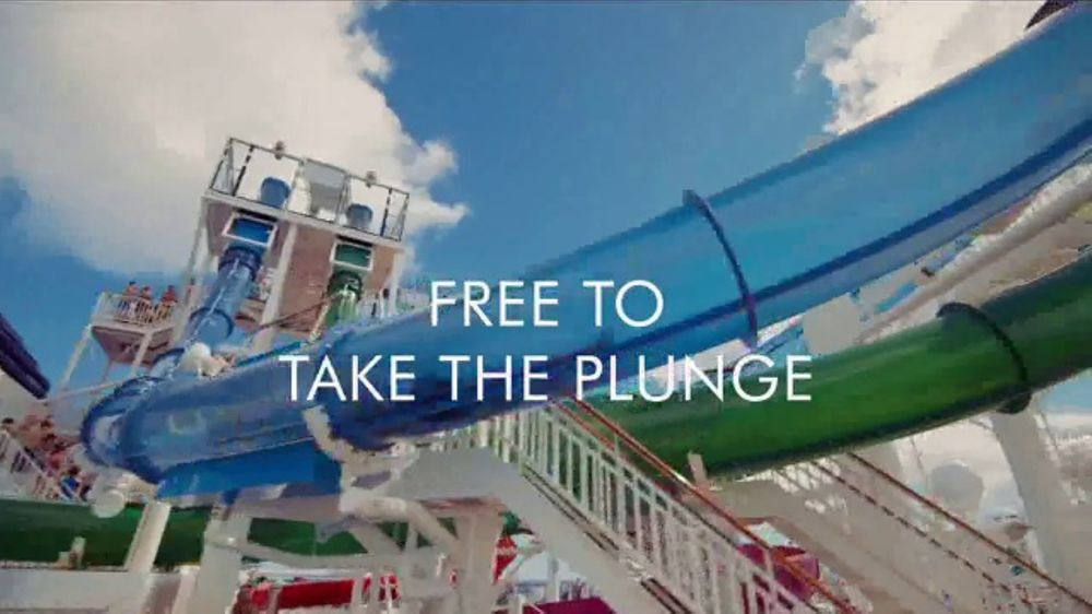 Norwegian Cruise Lines Free At Sea TV Commercial Plunge Song By - Roller coaster on a cruise ship