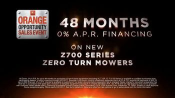 Kubota Orange Opportunity Sales Event TV Spot, 'Z700 Series Mowers' - Thumbnail 3