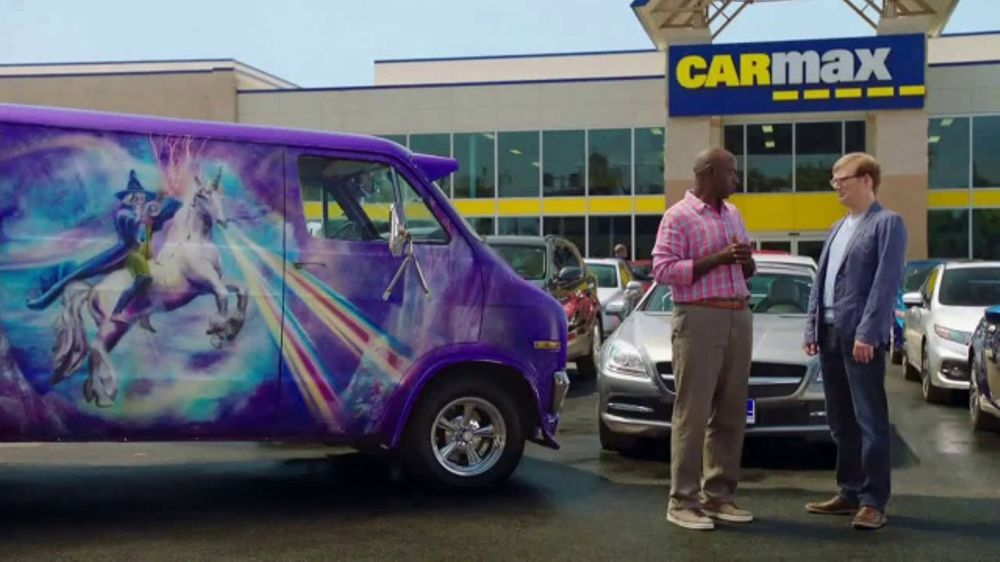 Truecar Used Cars >> CarMax TV Commercial, 'Purple Wizard Van' Featuring Andy ...