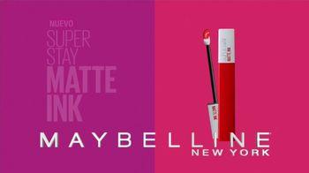 Maybelline SuperStay Matte Ink Liquid Lipstick TV Spot, 'Actitud' [Spanish]