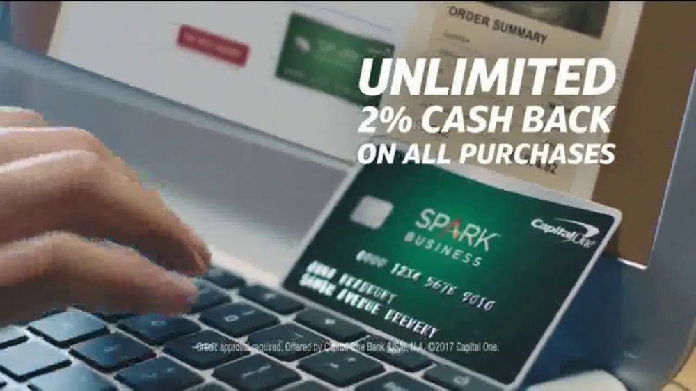 capital one spark business card commercial
