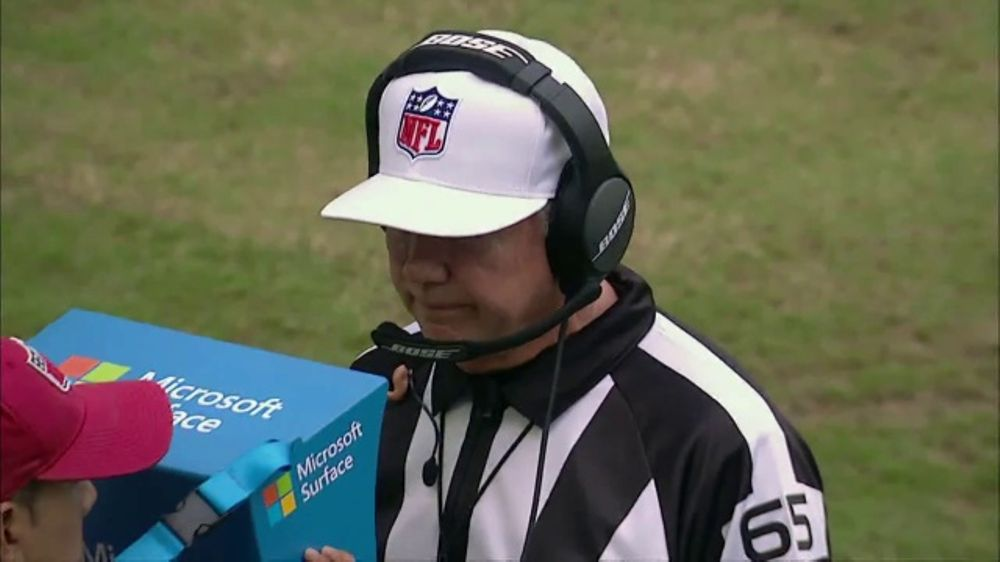 Microsoft Surface TV Commercial, 'NFL Sidelines: Miami Replay'