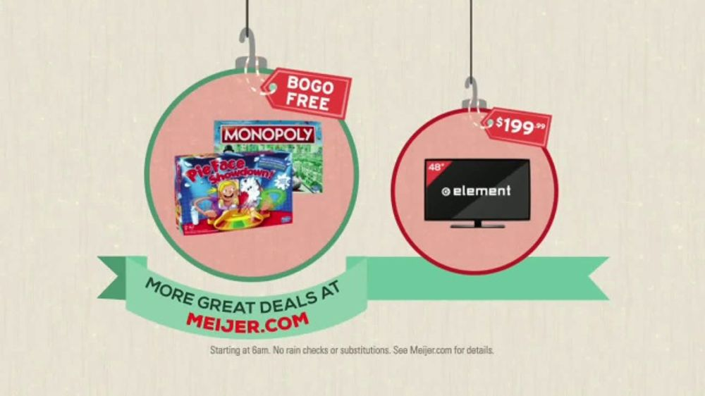 meijer tv commercial 2017 black friday board games and tvs ispottv