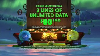 Cricket Wireless Unlimited 2 Plan TV Spot, 'Holiday Magic: Two Lines'