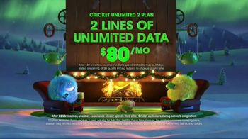 Cricket Wireless Unlimited 2 Plan TV Spot, 'Holiday Magic: Two Lines' - Thumbnail 3
