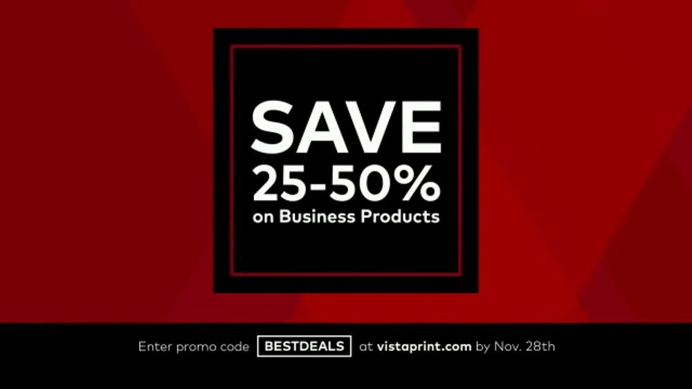 Vistaprint Black Friday & Cyber Monday Deals TV Commercial, \'Won\'t ...
