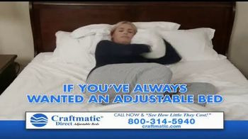 Craftmatic TV Spot, 'Bargain-Priced Adjustable Bed' - Thumbnail 1