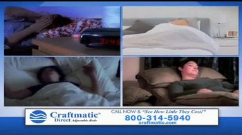Craftmatic TV Spot, 'Bargain-Priced Adjustable Bed' - Thumbnail 3