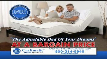 Craftmatic TV Spot, 'Bargain-Priced Adjustable Bed' - Thumbnail 4