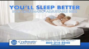 Craftmatic Tv Commercial Bargain Priced Adjustable Bed