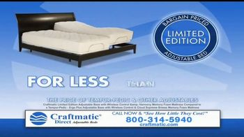Craftmatic TV Spot, 'Bargain-Priced Adjustable Bed' - Thumbnail 8