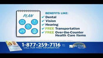 Easy Choice Medicare Advantage Plans TV Spot, 'Extra Benefits'