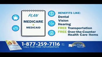 Easy Choice Medicare Advantage Plans TV Spot, 'Extra Benefits'